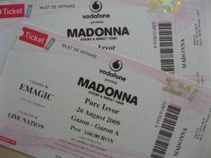 Cum aflati daca biletele pentru concertul Madonnei sunt sau nu false