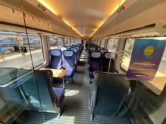 """Cum arată interiorul trenului """"Connecting Europe"""", care a ajuns la București. """"Vedeți și voi cum arată normalitatea"""" VIDEO"""