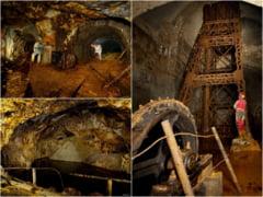 Cum arată subteranele de basm ale Roșiei Montane. Imagini impresionante cu galeriile miniere uriașe abandonate FOTO