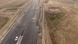 Cum arata bucata de autostrada din Pipera cu o luna inainte de inaugurare (Video)