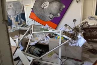 Cum arata casele oamenilor devastate de explozia din Beirut. Geamuri sparte si mobila daramata de rafala puternica