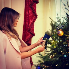 Cum arata decoratiunile de Craciun pregatite de Melania Trump la Casa Alba (Video)