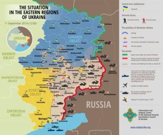 Cum arata harta conflictului din Ucraina - separatistii ar fi ocupat un teritoriu crucial