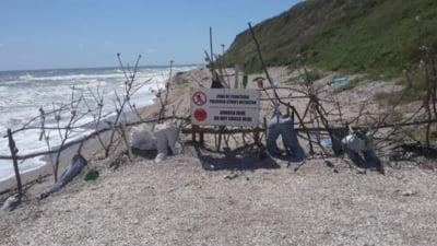 Cum arata linia de demarcatie dintre Bulgaria si Romania, pe plaja din Vama Veche. Un britanic nu a vazut-o
