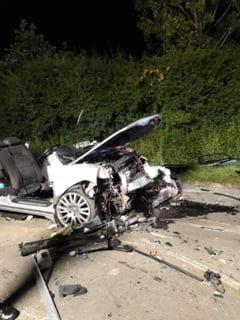 "Cum arata o masina cu cinci stele la ""siguranta rutiera"" dupa un accident in Romania"