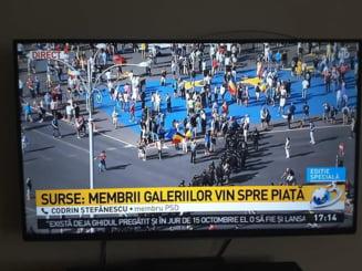 Cum arata protestele la televiziuni: Titluri care induc panica, la posturile de stiri apropiate PSD