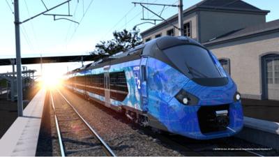 Cum arata trenurile cu hidrogen. Franta plateste 190 de milioane de euro pentru 12 astfel de garnituri FOTO