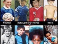 Cum aratau fotbalistii in copilarie