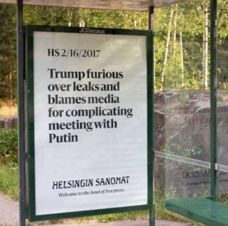 """Cum au fost intampinati Trump si Putin la Helsinki: """"Bine ati venit in tara presei libere!"""" (Galerie foto)"""