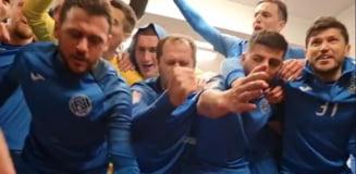 Cum au petrecut fotbalistii de la Clinceni dupa calificarea in play - off VIDEO
