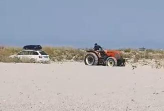 """Cum l-au """"pedepsit"""" grecii pe un român care a parcat direct pe plajă VIDEO"""