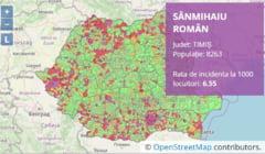 Cum puteți afla incidența COVID din localitatea în care vă aflați. Harta detaliată a României, actualizată în permanență