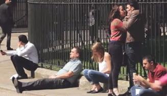 Cum reactioneaza oamenii pe strada cand un barbat este batut de o femeie (Video)