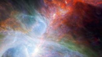Curcubeul in infrarosu din nebuloasa Orion
