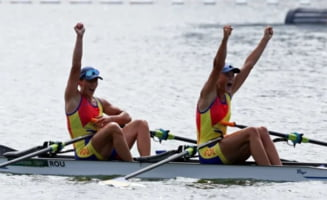 Cursă fabuloasă și medalie de aur pentru România la Jocurile Olimpice! Canotoarele Ancuța Bodnar și Simona Radiș și-au spulberat adversarele FOTO