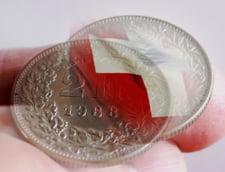 Curs valutar: Cel mai scump franc elvetian din ultimele doua luni