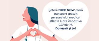 Curse gratuite pentru cei care lupta impotriva coronavirusului prin aplicatia de taxi si ridesharing FREE NOW