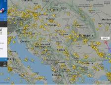 Curse internationale trec prin spatiul aerian al Romaniei. Spre exemplu, una din Qatar spre Germania