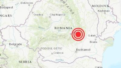 Cutremur cu magnitudinea 3,5 în Vrancea. Unde s-a resimțit seismul