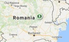 Cutremur de 3,3 grade in judetul Vrancea
