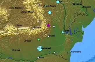 Cutremur de 4,8 grade in Vrancea, simtit pana la Bucuresti (Video)