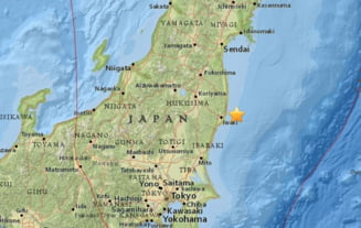 Cutremur puternic in Japonia. Nu a fost emisa alerta de tsunami