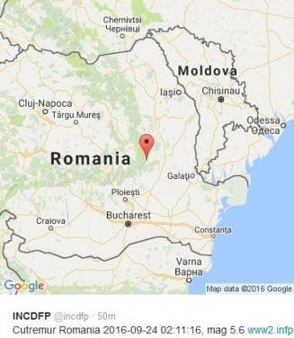 Cutremur puternic in Romania - s-a resimtit in Bucuresti, Iasi, Craiova UPDATE
