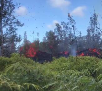 Cutremurele ar putea continua luni in sir in Hawaii. La fel si fisurile cu lava de 1.150 grade Celsius (Foto&Video)