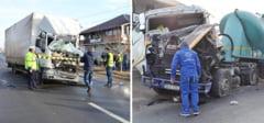 DAMBOVITA: Accident intre doua TIR-uri pe DN 71, la Baldana