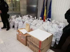 DIICOT a adus in Bucuresti sacii de cocaina gasiti in Delta. Povestea unei capturi de o tona cu 90% puritate