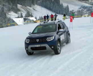 Dacia Duster isi spulbera rivalele pe partia de schi (Video)
