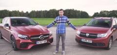 Dacia Logan MCV, testata fata in fata cu Mercedes-AMG E63 S - ce au observat britanicii in timpul probelor (Video)