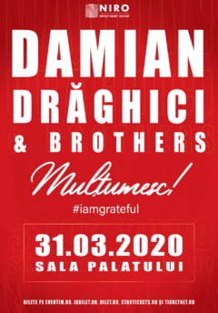 "Damian Draghici and Brothers concert aniversar- ""MULTUMESC #iamgrateful"""