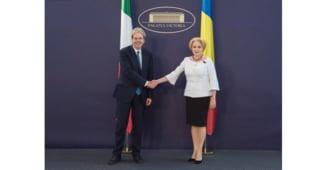 Dancila faulteaza iar limba romana: Romania si Italia sunt parteneri privelegeati (Video)