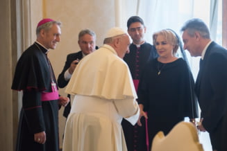 Dancila i-a oferit Papei seminte de legume si un puiet de mar. A primit de la Suveranul Pontif carti si o medalie din bronz