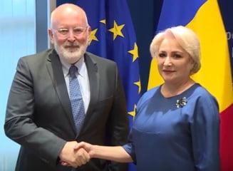 """Dancila pleaca iar la Bruxelles si spera la un """"dialog constructiv"""" cu Frans Timmermans"""