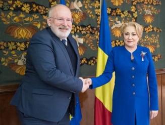 Dancila s-a intalnit cu Timmermans. Comisia Europeana spera sa vada curand rezultate concrete referitoare la MCV