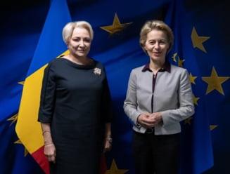 Dancila s-a intalnit cu viitoarea sefa a Comisiei Europene. Nicio informatie concreta de la Guvern