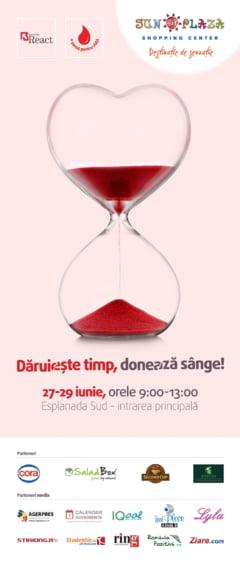 Daruieste timp, doneaza sange!