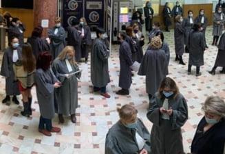 """Daune morale de zeci de mii de euro pentru sapte grefiere obligate sa lucreze intr-o """"cusca"""". Conditiile de munca inumane reclamate in justitie"""