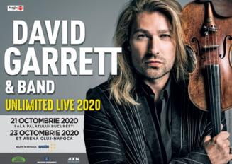 David Garrett aduce concertul UNLIMITED LIVE la Bucuresti si Cluj-Napoca