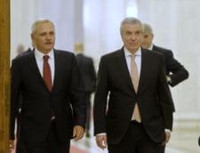De ce au plecat Dragnea si Tariceanu de la sedinta in care se discuta motiunea: S-au dus sa se intalneasca cu pensionarii PSD
