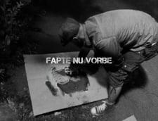 De ce este chipul primarului Rares Manescu pictat pe gropile din Bucuresti (Galerie foto)