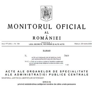 Foto: Monitorul Oficial