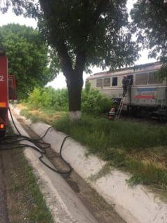 De la atata trafic feroviar, Locomotiva in flacari, aproape de gara Zebil