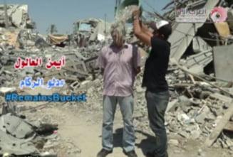 De la galeata cu apa, la cea cu moloz: Provocarea Ice Bucket Challenge in varianta palestiniana (Video)
