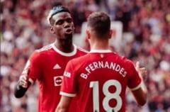 """Debut devastator pentru Manchester United în Premier League. """"Triplă"""" Fernandes, patru pase decisive Pogba!"""