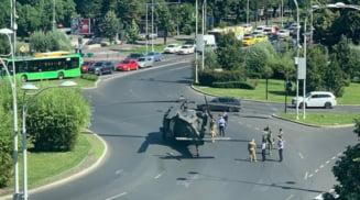 Defecțiunea din cauza căreia elicopterul american Black Hawk a aterizat forțat în Piaţa Charles de Gaulle