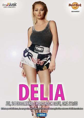 Delia canta in Hard Rock Cafe pe 24 0ctombrie