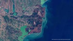 Delta Dunării fotografiată de la sute de kilometri distanță de Pământ. Imaginea spectaculoasă suprinsă din satelit
